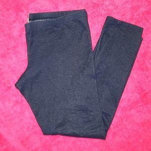 Mudd Cropped Jeggings (Denim-print leggings)